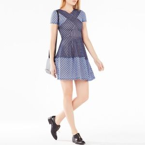 BCBGMaxazria Elyze Lace Blocked Mini Dress